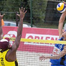 A. Rumševičius ir L. Každailis pralaimėjo pasaulio čempiono vedamai Brazilijos porai