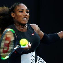 JAV teniso žvaigždė S. Williams laukiasi pirmagimio