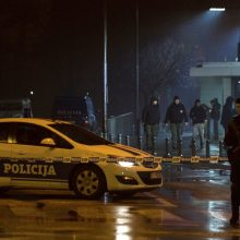 Juodkalnijos sostinėje prie JAV ambasados driokstelėjo sprogimas
