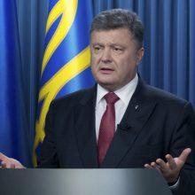 Ukrainos prezidentas: Rusijos pradėtas hibridinis karas tampa pasauliniu