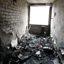 Klaipėdoje per gaisrą nukentėjo žmogus