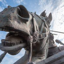 Kaune – sumontuota Vyčio skulptūra