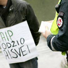 Prie Vyriausybės – mitingas prieš žiniasklaidos suvaržymus