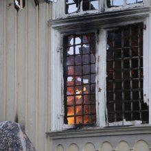 Žvėryne liepsnojo dviejų aukštų namas, žmogus apdegė rankas