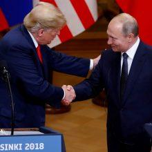 JAV demokratai reikalauja informacijos apie D. Trumpo ir V. Putino pokalbius