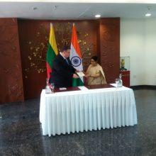 Lietuva ir Indija pasirašė sutartį dėl ekstradicijos