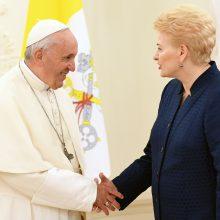 Popiežius: ši tauta iš tiesų turi tvirtą sielą