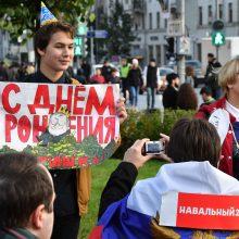 Maskvoje sulaikyta virtinė opozicijos lyderio A. Navalno šalininkų