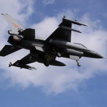 Į bazę netoli Talino atskrido 12 JAV naikintuvų F-16