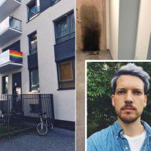 Vėl degė durys režisieriaus R. Zabarausko name: prašo paaukoti remontui