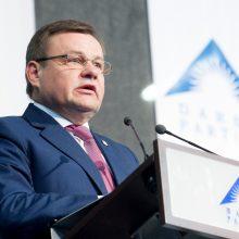 Buvęs Seimo pirmininkas V. Gedvilas paliko Darbo partiją