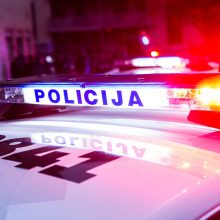 Įtariama, neblaivaus patrulio automobilis Ignalinoje sukėlė avariją