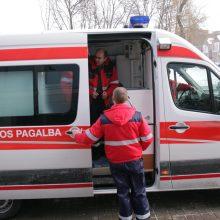 Avarijoje nukentėjo susidūrimo su sunkvežimiu vengęs vairuotojas