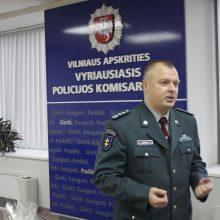 Vilniaus apskrities vyriausiojo policijos komisariato viršininkas Saulius Gagas
