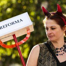 Opozicijos lyderiai palaikymo reformoms nežada