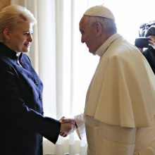 D. Grybauskaitė: popiežius siunčia žinią, kad istorija nepamiršta