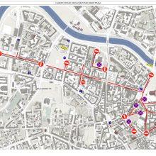 Svarbi informacija dėl eismo ribojimų Vasario 16-ąją