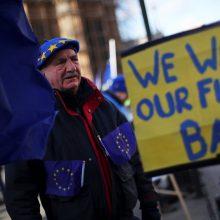 """Britanijos įstatymų leidėjai pritarė svarbiam """"Brexit"""" teisės aktui"""