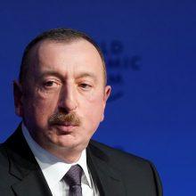 Azerbaidžano prezidentas sukėlė pasipiktinimą pareiškimais apie Armėnijos okupaciją