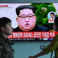 Šiaurės Korėjos lyderis žada sustabdyti branduolinius ir raketų bandymus