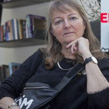 Žemaitė iš Švedijos linki, kad virš Lietuvos Seimo suplevėsuotų vaivorykštės vėliava