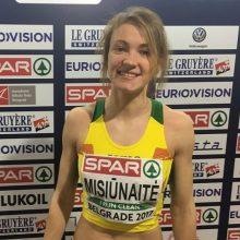 Bėgikė E. Misiūnaitė pasiekė geriausią Lietuvos sezono rezultatą