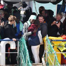 Iš labdaros laivo Lietuva atrinko keturis pabėgėlius