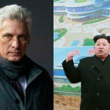 Kubos prezidentas Pchenjane susitiko su Šiaurės Korėjos lyderiu