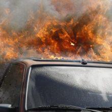 Incidentas Panevėžyje: tyčia sprogdintas automobilis?