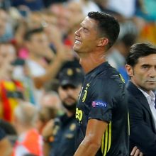 C. Ronaldo sugrįžimas į Čempionų lygą – su raudona kortele ir ašaromis
