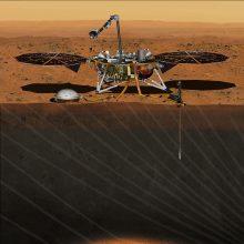 """NASA mokslininkai sunkiai tramdo jaudulį: zondas """"InSight"""" artėja prie Marso"""