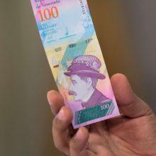 Venesuelai rengiantis naujų banknotų išleidimui, šalyje tvyro sumaištis