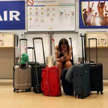 """Vokietijos pilotų streikas: """"Ryanair"""" atšaukia 250 skrydžių"""