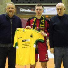 Futbolininkui J. Zagurskui – naudingiausio žaidėjo apdovanojimas