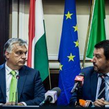 Artėjant EP rinkimams Vengrija ir Italija suvienijo jėgas kovai su imigracija