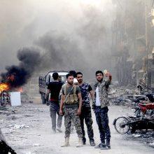 Po IS pralaimėjimo Damasko pietuose dislokuota Sirijos policija
