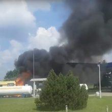 Po paauglę iš Kauno rajono sužalojusio gaisro degalinėje – naujos žinios