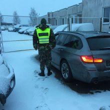 Vokietijoje pavogtas BMW – Lietuvos pasieniečiu rankose