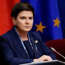 Lenkijos premjerė toliau žeria kritiką dėl migrantų priėmimo