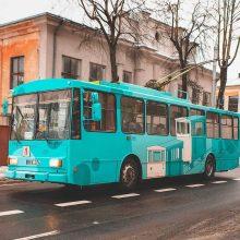 Ant troleibuso įamžino istorinį Kauno transportą