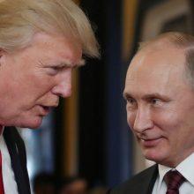 D. Trumpas atmeta pranešimą, kad slėpė susitikimų su V. Putinu detales