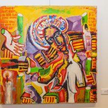 Jubiliejinėje Klošaro parodoje – spalvų ir personažų žaismas