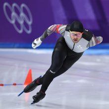 Greitojo čiuožimo rungtyje latvis liko per žingsnį nuo medalio
