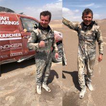 A. Juknevičius maratoninės dienos finiše: rodau Dariui tikrąjį Dakarą