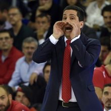 """""""Olympiacos"""" treneris: mes nekalbėjome apie teisėjus ir dėl to nukentėjome"""