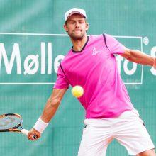 Tenisininkas L. Grigelis pergale pradėjo turnyrą Kanadoje