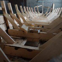 Statyba: jau beveik sumontuotas Kėdainių vytinės korpusas.