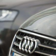 """Stipriai apgirtęs """"Audi"""" vairuotojas įvažiavo į griovį"""