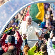 Popiežiaus malda Santakos parke: nebijokime eikvoti savęs dėl mažiausiųjų