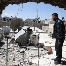 Rusija kratosi atsakomybės dėl cheminių atakų Sirijoje